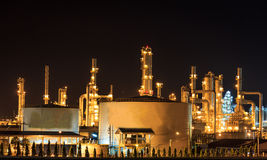 Refinery Night Stock Photo