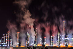 Refinery Night Stock Image