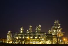 Refinery at night 6 Royalty Free Stock Photography