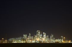 Refinery at night 7 Royalty Free Stock Image