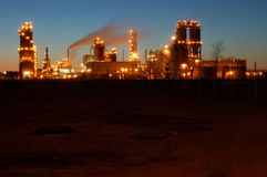 Refinery at night in Montreal 4. Refinery after sunset. Camera: Nikon D50 stock photography