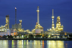 Refinery at night Royalty Free Stock Photography