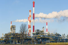 Refinery in north of Poland Royalty Free Stock Image