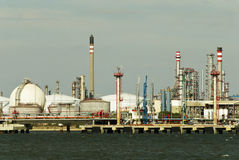 Refinery - Oil and gas factory. Royalty Free Stock Photography