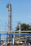 Refinery oil industry pipelines Stock Photo