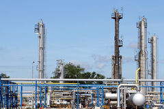 Refinery oil industry pipelines Royalty Free Stock Photos