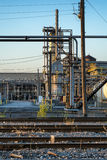 Refinery. Oil refinery in Montreal at sunset Stock Photos