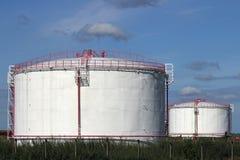 Refinery oil tanks Stock Photo