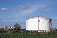 Refinery with oil tanks Stock Photography