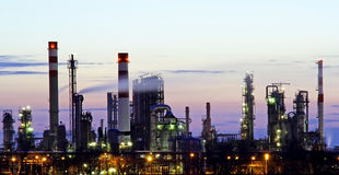 Refinery panorama Royalty Free Stock Photos
