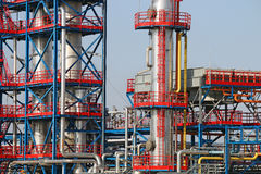 Refinery petrochemical plant detail. Refinery petrochemical plant oil industry detail Stock Image