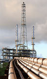 Refinery pipe line Royalty Free Stock Photography