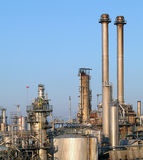 Refinery pipeline in factory Royalty Free Stock Image