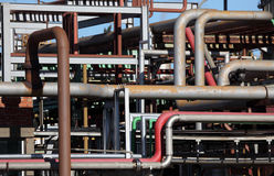 Refinery pipes Stock Image