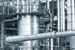 Refinery piping Royalty Free Stock Image