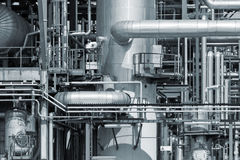 Refinery piping Stock Image
