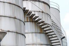 Refinery Plant. A photo taken on the storage tanks of a refinery plant Royalty Free Stock Photo