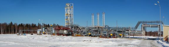 Refinery plant. Royalty Free Stock Image