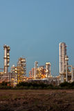 Refinery plant area. Refinery plant in blue background Royalty Free Stock Photo