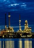 Refinery plant area at twilight Stock Photography