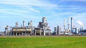 Refinery plant at Europort harbor, Rotterdam Royalty Free Stock Images