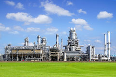 Refinery plant at Europort harbor, Rotterdam royalty free stock photo