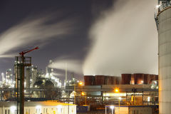 Refinery plant in the night Stock Photography