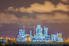 Refinery plant on night Royalty Free Stock Photography