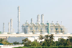 Refinery plant with Power generator Royalty Free Stock Photos