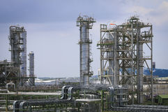 Refinery plant with sky Stock Images