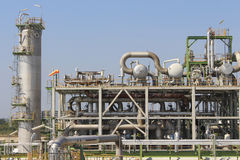 Refinery plant with sunny day Royalty Free Stock Photography