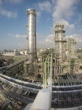 Refinery plant in wide lens Stock Images