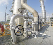 Refinery plant in wide lens Stock Photos