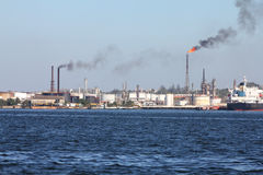 Refinery pollution Stock Photo