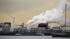 Refinery and power plant stock video footage