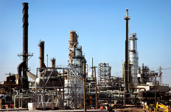 Refinery Scape. Detroit area gas/oil refinery complex Stock Images