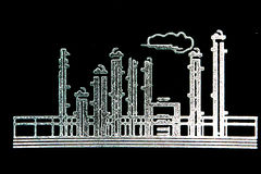 Refinery Sketch. Sketch of a Refinery royalty free stock image