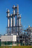 Refinery skyline. A modern petrochemical refinery or plastics manufacturing plant Stock Photo