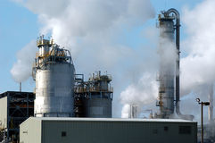 Refinery with smoke, Montreal, Canada Stock Photo