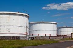 Refinery storage tanks Royalty Free Stock Photo