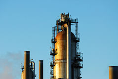 Refinery tower Royalty Free Stock Photography