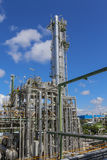 Refinery tower with blue sky Royalty Free Stock Image