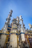 Refinery tower with blue sky Stock Photo