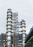 Refinery tower structure Royalty Free Stock Photo