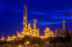 Refinery Twilight Royalty Free Stock Image