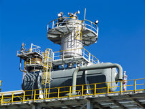 Refinery under construction Stock Photography