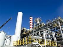 Refinery under construction. An hydrogen plant refinery under construction Royalty Free Stock Image
