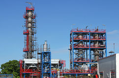 Refinery with workers Royalty Free Stock Image
