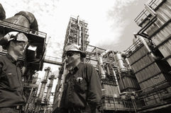 Refinery workers and industry Stock Image
