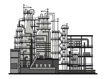 Refining. Apparatus for refining. Vector format stock illustration